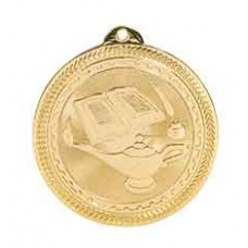Lamp of Knowledge BriteLazer Medal with Neck Ribbon