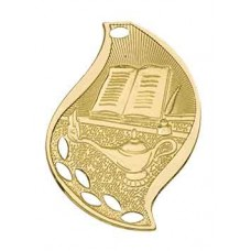 Lamp of Knowledge Flame Medal with Neck Ribbon