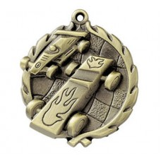 "1 3/4"" Pinewood Derby Neck-And-Neck Medal"
