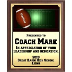 Gridlines Football Plaque