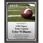 Football on Field Plaque