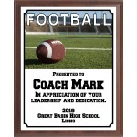 End Zone Football Plaque