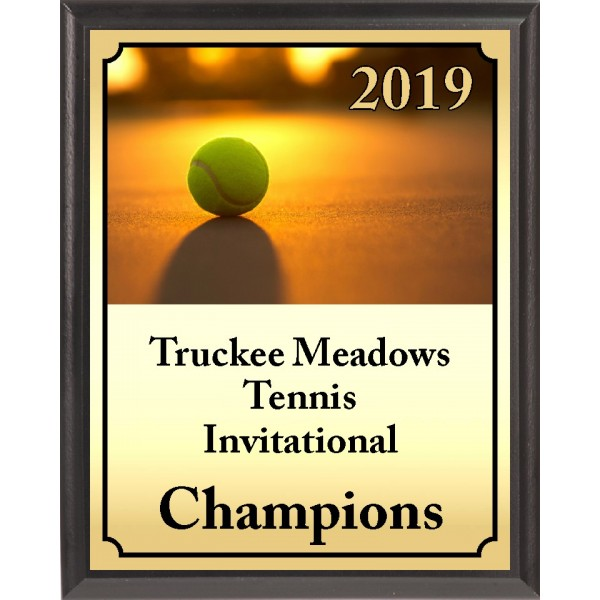 Sunset Ball Tennis Plaque
