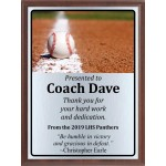 Ball On Line Baseball Plaque