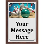 Graphic Teal Bowling Plaque
