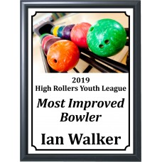 Colorful Bowling Balls Plaque