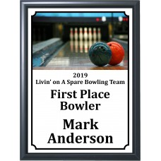 Balls on Lane Bowling Plaque