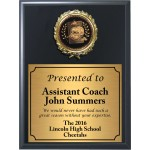 Economy Heat Transfer Coach Plaque with Black and Gold Coach Medallion