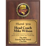 Economy Heat Transfer Coach Plaque with Holographic Coach Medallion