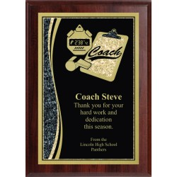 5x7 Economy Plaque with Engraved Coach Plaque Plate