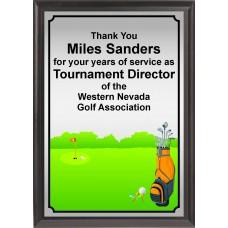 Golf Bag Plaque