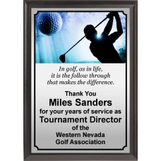 Ball in Motion Golf Plaque