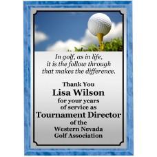 Sunny Day Golf Plaque