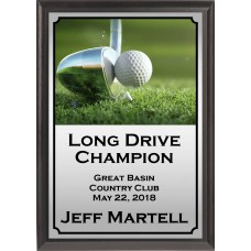 Moment of Contact Golf Plaque