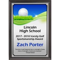 Graphic Golf Plaque