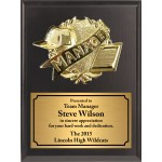 Economy Heat Transfer Team Manager Plaque with Gold Plate