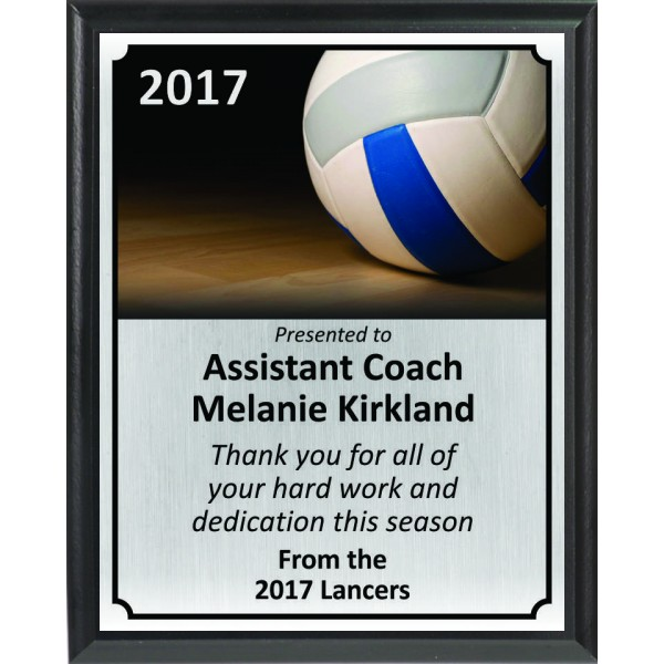 Ball on Court Volleyball Plaque