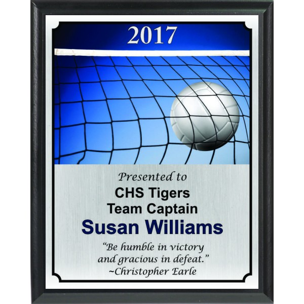 Ball in Net Volleyball Plaque