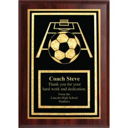 5x7 Economy Plaque with Engraved Soccer Plaque Plate