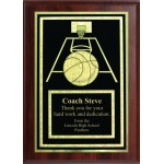 5x7 Economy Plaque with Engraved Basketball Plaque Plate