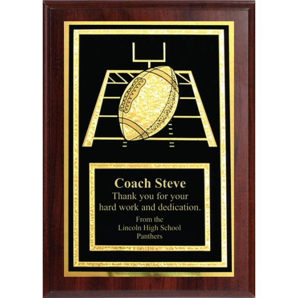 5x7 Economy Plaque with Engraved Football Plaque Plate
