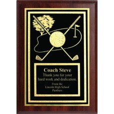 5x7 Economy Plaque with Engraved Golf Plaque Plate