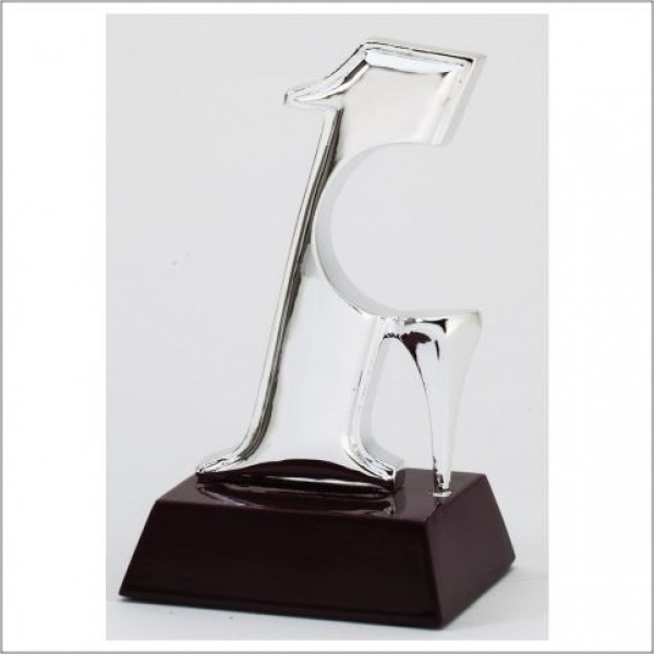 "Rosewood and Silver-Tone ""Hole In One"" Award"