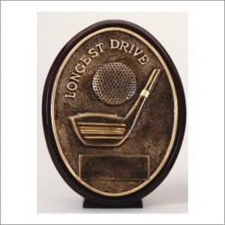 Oval Longest Drive Golf Resin Trophy