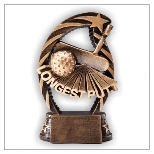 Longest Putt Golf Resin Trophy