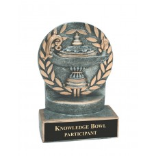 4 1/4 inch Lamp of Knowledge Wreath Resin