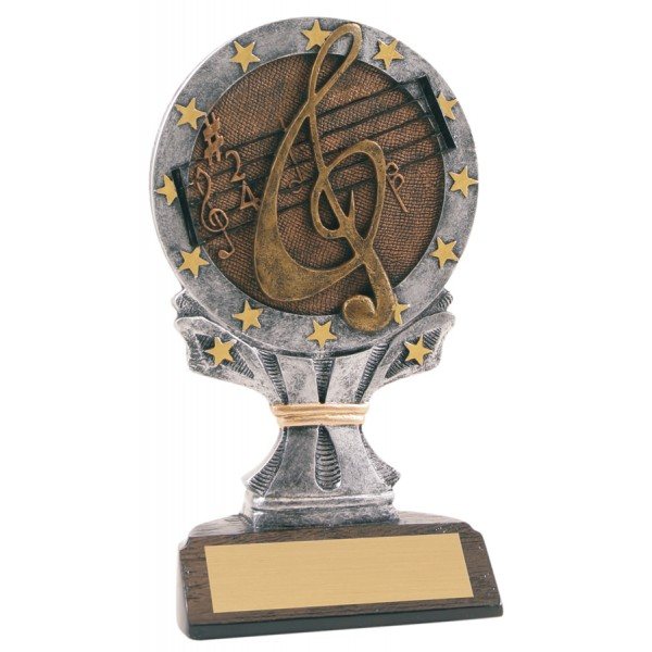 6 1/4 inch Music All Star Resin