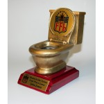 Rosewood-Antique Gold Toilet Loser Award