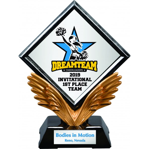Custom Diamond Wings Trophy