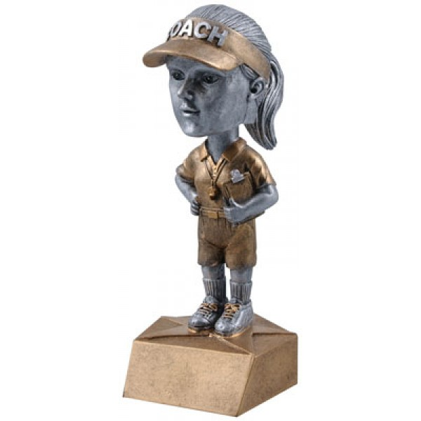 Coach Bobble Head Resin Award, Female