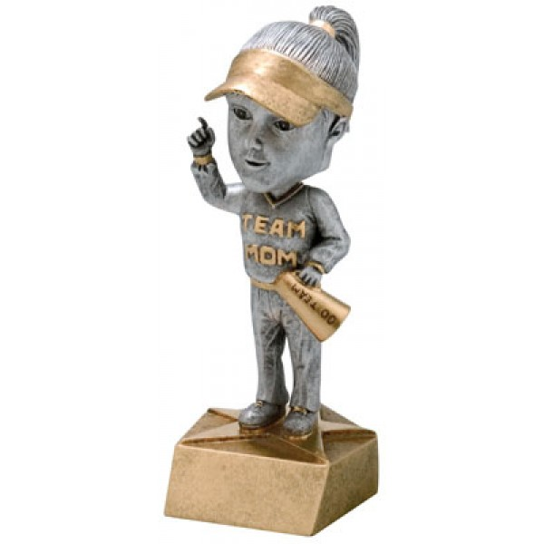 Team Mom Bobble Head Resin Award