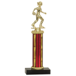 """Economy Trophy with Black Asian Marble Base and 6"""" of Column"""