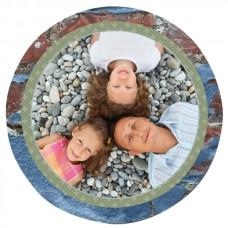 """16"""" Glossy White Round Aluminum Photo Panel"""