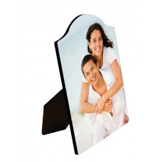 Glossy Arch Top Wood Photo Panel With Easel