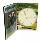 Hinged Wood Panel Photo Clock