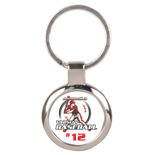 Round Metal Key Chain