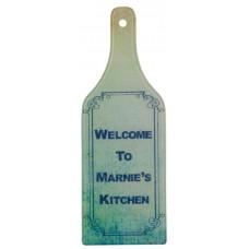Wine Bottle Shape Glass Cutting Board