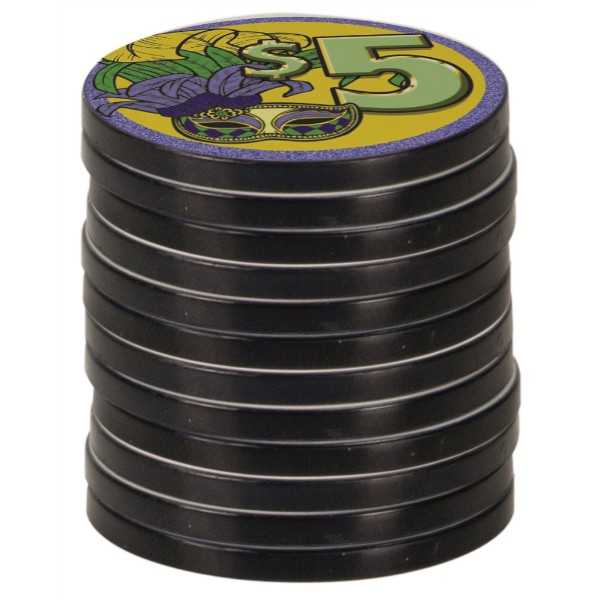 Black Edge Poker Chip