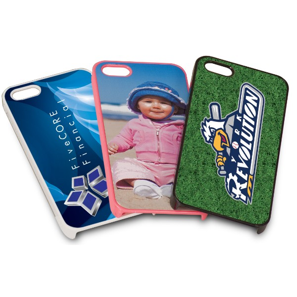 Glossy Pink iPhone 5 Case with Personalized Aluminum Plate
