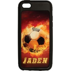 Black Iphone 5/5s Impact Resistant Rubber Like Tpu Case