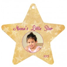 Star Metal Ornament With Ribbon