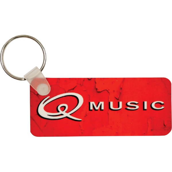 Glossy Plastic Rectangle Key Chain
