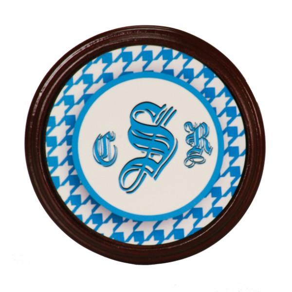Mahogany Frame Round Coaster