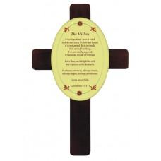 Mahogany Hardboard Cross With Hardboard Tile