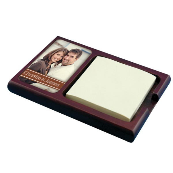 Mahogany Sticky Note Holder