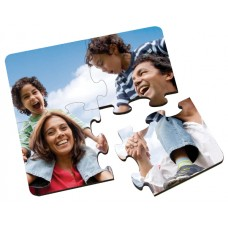 4 Pc Glossy Square Coaster Hardboard Puzzle With Cork Back